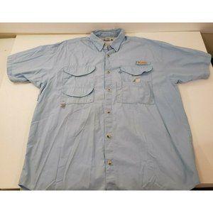 Columbia PFG Mens Large Blue Fishing Shirt